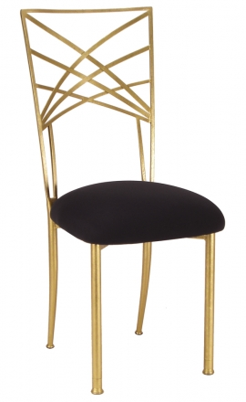 Gold Fanfare with Black Suede Cushion (2)