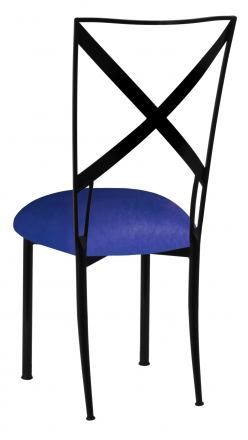 Blak. with Royal Blue Stretch Knit Cushion (1)