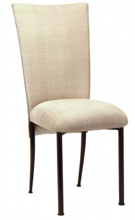 Parchment Linette Chair Cover and Cushion on Black Legs (2)