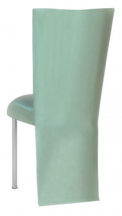 Tropical Teal Taffeta Jacket with Boxed Cushion on Silver Legs (1)