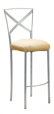 Simply X Barstool with Buttercup Suede Cushion (1)