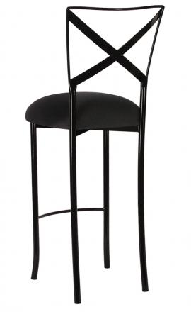 Blak. Barstool with Black Stretch Knit Cushion (1)