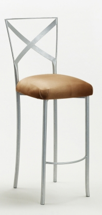 Simply X Barstool with Camel Suede Cushion (2)
