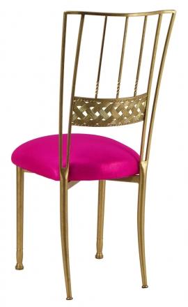 Gold Bella Braid with Metallic Fuchsia Cushion (1)