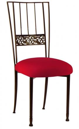 Mahogany Bella Fleur with Red Stretch Knit Cushion (2)