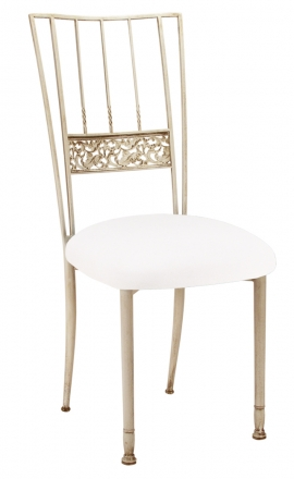 Ivory Bella Fleur with White Suede Cushion (2)