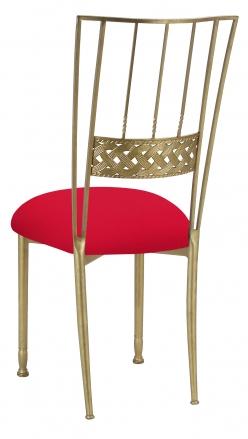 Gold Bella Braid with Million Dollar Red Knit Cushion (1)
