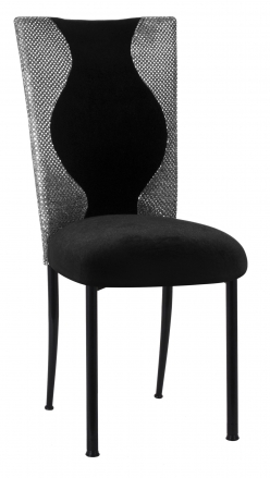 Hour Glass Sequin with Black Velvet Cushion on Black Legs (2)