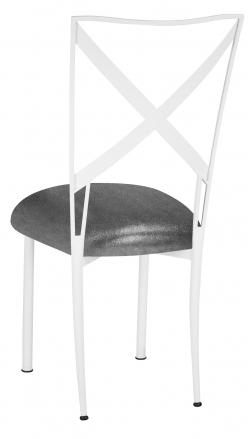 Simply X White with Gunmetal Knit Cushion (1)