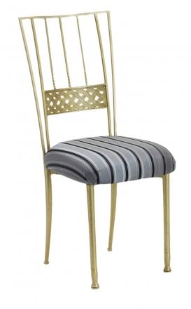 Gold Bella Braid with Charcoal Stripe Cushion (2)
