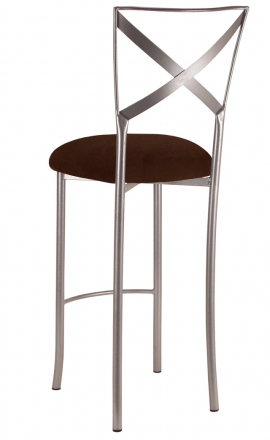 Simply X Barstool with Chocolate Suede Cushion (1)