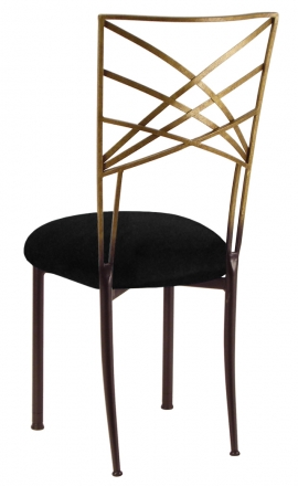 Two Tone Gold Fanfare with Black Suede Cushion (1)