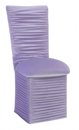 Chloe Lavender Velvet Chair Cover with Jewel Band, Cushion and Skirt (2)