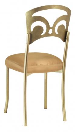 Gold Fleur de Lis with Gold Taffeta Boxed Cushion (1)