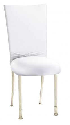 White Cowl with Jeweled Band and White Stretch Knit Cushion on Ivory Legs (2)