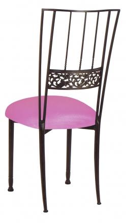 Mahogany Bella Fleur with Pink Glitter Knit Cushion (1)