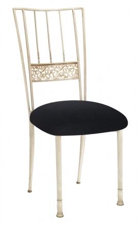 Ivory Bella Fleur with Black Velvet Cushion (2)