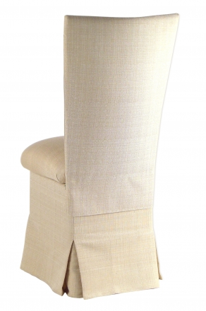Parchment Linette Chair Cover and Cushion and Skirt (1)