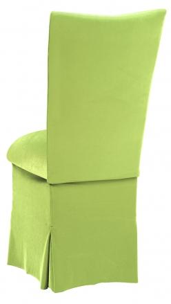 Lime Green Velvet Chair Cover, Cushion and Skirt (1)