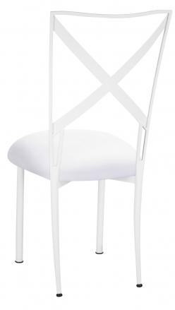 Simply X White with White Suede Cushion (1)