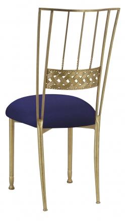 Gold Bella Braid with Navy Blue Suede Cushion (1)