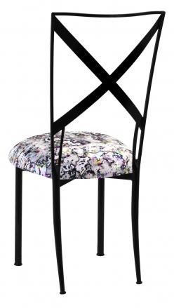 Blak. with White Paint Splatter Knit Cushion (1)