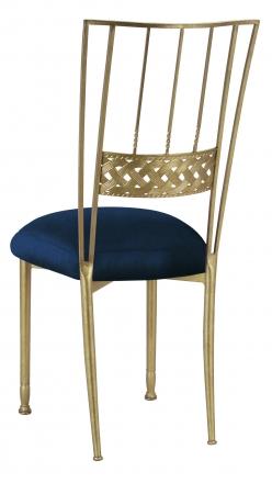 Gold Bella Braid with Midnight Blue Taffeta Boxed Cushion (1)