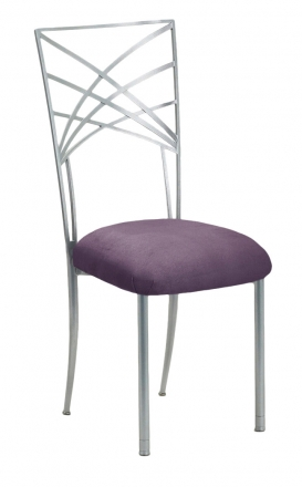 Silver Fanfare with Lilac Suede Cushion (2)