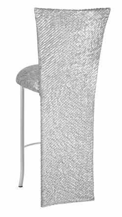 Atomic Silver Barstool Jacket and Cushion on Silver Legs (1)
