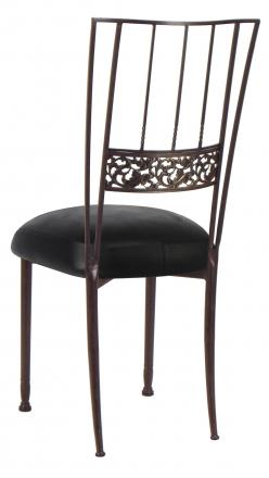 Mahogany Bella Fleur with Black Leatherette Boxed Cushion (1)