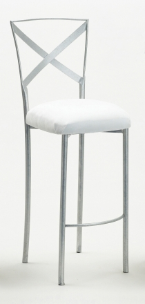 Simply X Barstool with White Suede Cushion (2)