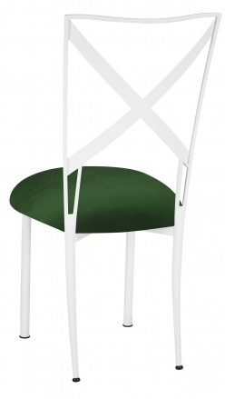 Simply X White with Green Velvet Cushion (1)