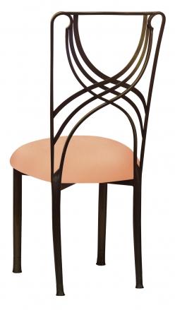 Bronze La Corde with Cantaloupe Stretch Knit Cushion (1)