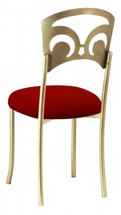 Gold Fleur de Lis with Red Velvet Cushion (1)