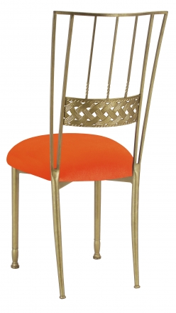 Gold Bella Braid with Orange Velvet Cushion (1)