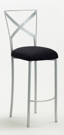 Simply X Barstool with Black Suede Cushion (2)
