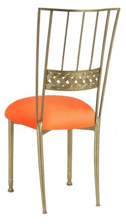 Gold Bella Braid with Tangerine Stretch Knit Cushion (1)