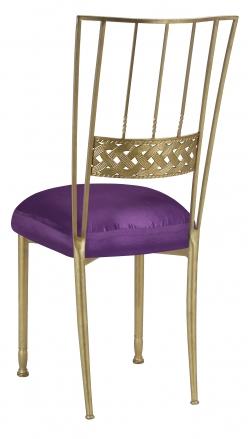 Gold Bella Braid with Purple Taffeta Boxed Cushion (1)