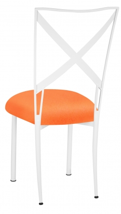 Simply X White with Tangerine Stretch Knit Cushion (1)