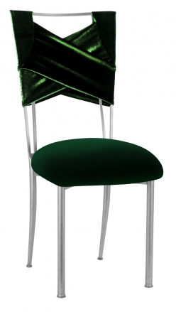 Green Velvet Sweetheart with Green Velvet Cushion on Silver Legs (2)