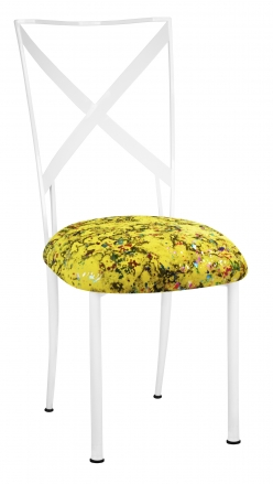 Simply X White with Yellow Paint Splatter Cushion (2)