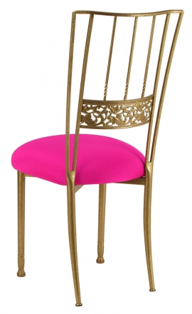 Gold Bella Fleur with Hot Pink Stretch Knit Cushion (1)