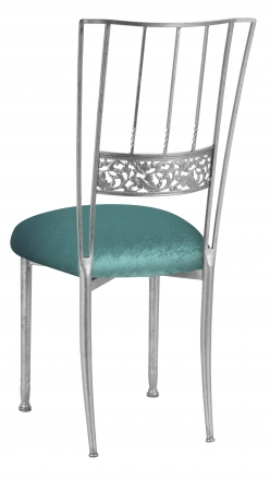 Silver Bella Fleur with Turquoise Velvet Cushion (1)
