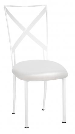 Simply X White with Metallic White Stretch Knit Cushion (2)