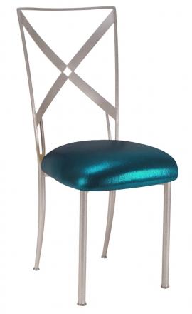 Simply X with Metallic Teal Cushion (2)