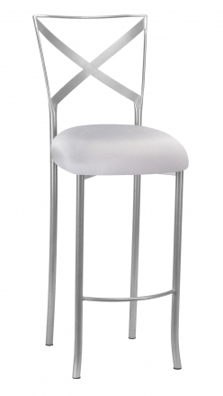 Simply X Barstool with Silver Stretch Knit Cushion (2)