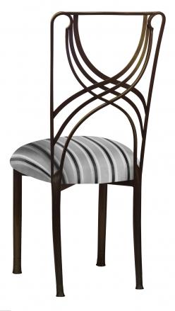 Bronze La Corde with Charcoal Stripe Cushion (1)