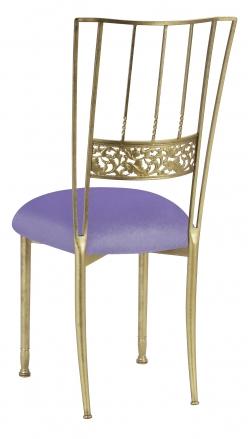 Gold Bella Fleur with Lavender Velvet Cushion (1)
