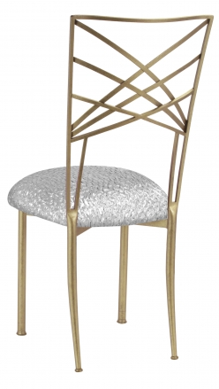 Gold Fanfare with Atomic Silver Knit Cushion (1)