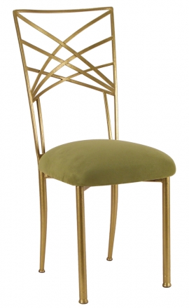 Gold Fanfare with Sage Suede Cushion (2)